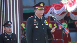 POLRES TANJAB BARAT GELAR UPACARA DAN SYUKURAN HUT BHAYANGKARA KE 71