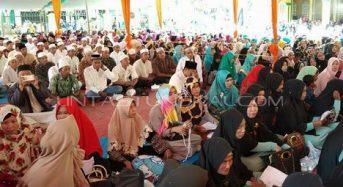 RIBUAN JAMAAH HADIRI MAULID NABI MUHAMMAD SAW DI TEBING TINGGI