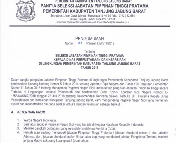 Berita Laman 107 Pemerintah Kabupaten Tanjung Jabung Barat