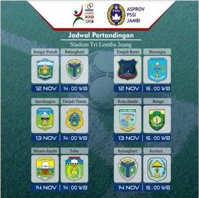 Jadwal Pertandingan Sepak Bola Porprov Jambi 2018 Pemerintah Kabupaten Tanjung Jabung Barat