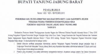 Pengumuman Hasil Seleksi Administrasi Pengadaan Pegawai Pemerintah dengan Perjanjian Kerja