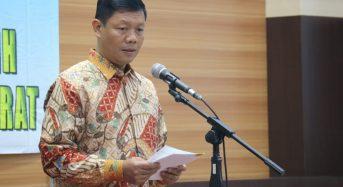 BUPATI SAFRIAL SAMBUT KUNJUNGAN KERJA DANDREM 042/GAPU KE TANJUNG JABUNG BARAT.