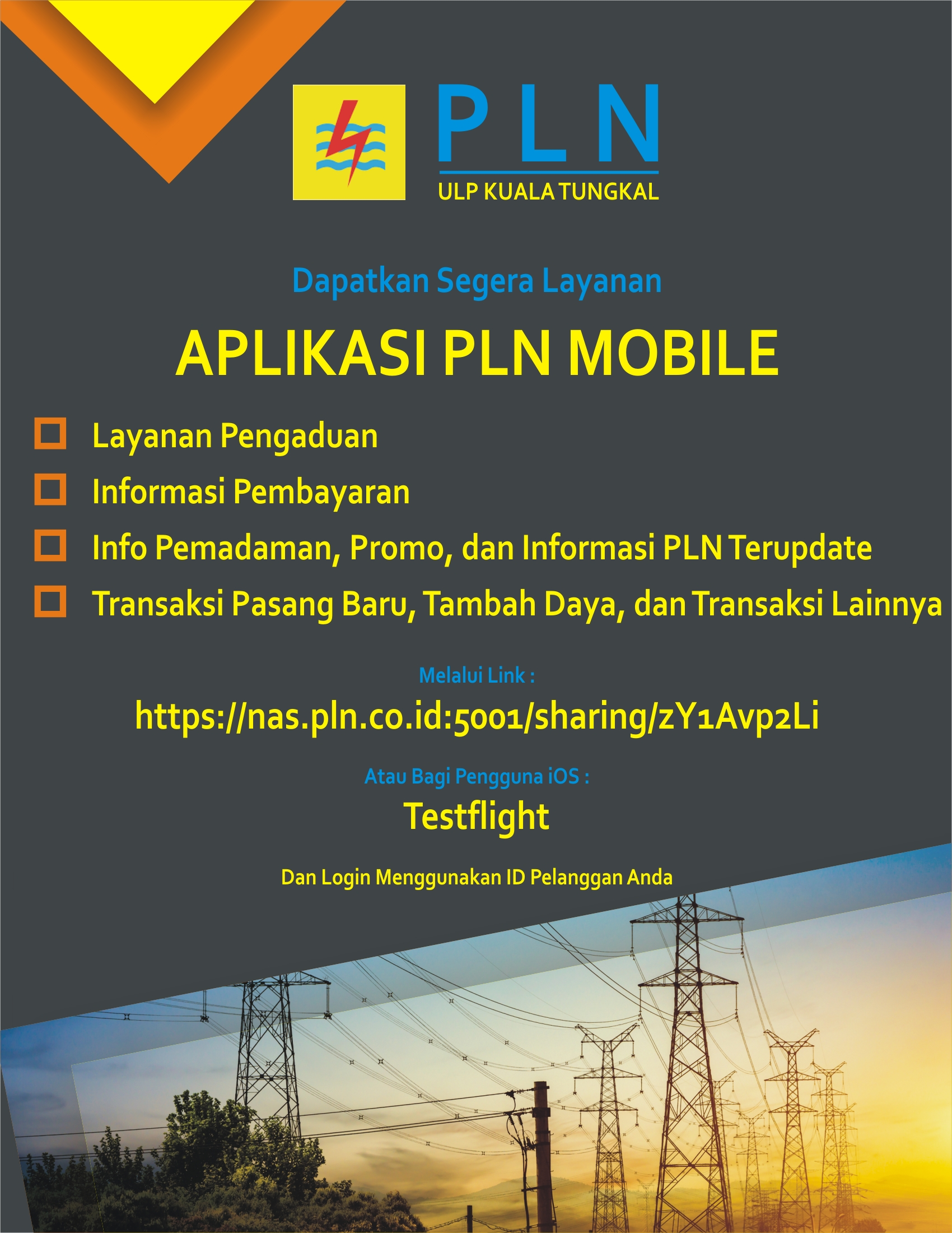 Informasi Aplikasi Layanan PLN Mobile